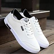 Herre Flate sko Lerret Sommer Avslappet Flat hæl Hvit Blå Flat