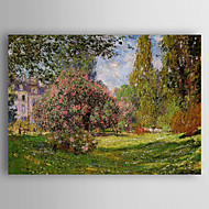 Hand Painted Monet Oil Painting Canvas Painting with Stretched Framed Ready to Hang