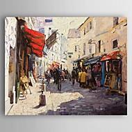 Kézzel festett Landscape Festmények,Modern Egy elem Vászon Hang festett olajfestmény For lakberendezési