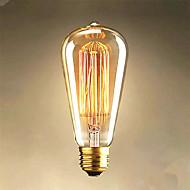 lâmpadas fio reto 25w edison ST64 para venda edison arte luz da decoração