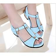 Jenter-PU-Flat hæl-Sandaler-Sandaler-Friluft-Blå / Rosa / Vannmelon