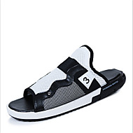 Men's Slippers & Flip-Flops Summer Fall Slippers Canvas Casual Flat Heel Others Black White Orange Others