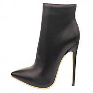 נשים-מגפיים-גומי עור פטנט דמוי עור-פלטפורמה נוחות חדשני מגפיי בוקרים\מערב פרוע מגפי שלג מגפי רכיבה מגפי אופנה-שחור אדום לבן-חתונה משרד