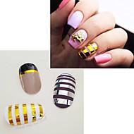3pcs Nail Art Sticker Folha Tape Stripping maquiagem Cosméticos Prego Design Arte