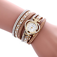 Women's Quartz Casual Fashion Watch Bracelet Beautiful Diamond Heart Round Alloy Dial Watch Cool Watch Unique Watch Strap Watch