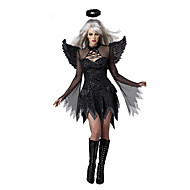 Cosplay Costumes / Party Costume Angel/Devil Festival/Holiday Halloween Costumes Black Patchwork Dress / More Accessories Halloween Female