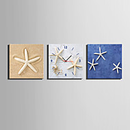 MINI SIZE E-HOME Starfish Clock in Canvas 3pcs