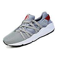Sneakers-Stof-Komfort-Unisex-Rød Grå Sort og guld Sort og Hvid-Fritid-Flad hæl