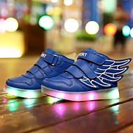 LED Light Up Shoes, Girl's  Shoes Sneakers Comfort / Flats Athletic / Casual / Magic Tape / wings / Blue / White