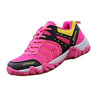Women's Sneakers Spring Fall Comfort Fabric Outdoor Athletic Flat Heel Lace-up Red Hiking