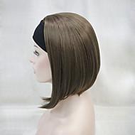 новые моды 3/4 парик с короткой прямой синтетический парик половина выбора 6 цвета оголовье женщин