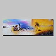 Hand Painted Abstract Oil Painting On Canvas Modern Wall Art Picture For Home Decoration With Stretched Framed