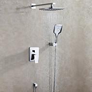 Modern Muurbevestigd Regendouche / Inclusief handdouche with  Keramische ventiel Twee handgrepen drie gaten for  Chroom , Douchekraan