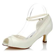 Women's Heels Spring / Summer / Fall Peep Toe Silk Wedding / Party & Evening / Dress Low Heel Beige Others