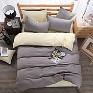 Bedtoppings Solid Color Duvet Cover 4PCS Set