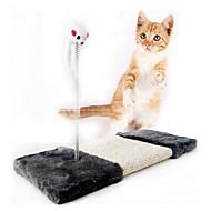 Katzen Haustierspielsachen Interaktives Kratzbaum / Maus Schwarz Sisalhanf