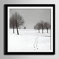 Пейзаж Холст в раме / Набор в раме Wall Art,ПВХ материал Черный Коврик входит в комплект с рамкой For Украшение дома Рамка Art