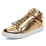 Men's Shoes Fashion Microfiber Medium cut Sneakers Board Shoes Boots