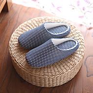 Pantofle a Žabky-Bavlna-Pohodlné-Unisex-Modrá / Červená-Běžné-Plochá podrážka