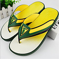 Men's Slippers & Flip-Flops Summer PVC Casual Flat Heel Others Blue Yellow Green Others