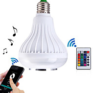 HRY E27 LED RGB Color Bulb Light Bluetooth Control Smart Music Audio Speaker Lamps(AC85-265V)