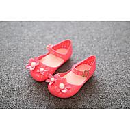 Sandály-PU-Sandály-Dívčí-Černá / Červená-Outdoor-Plochá podrážka