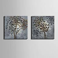 Botânico Impressão em tela Dois Painéis Pronto para pendurar , Quadrada