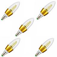 7W E14 נורות נר לד C35 35LED SMD 2835 650LM lm לבן חם דקורטיבי AC 220-240 V חמישה חלקים