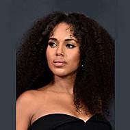 Kinky Curly Glueless Lace Front Human Hair Wigs 100% Brazilian Virgin Hair Wigs For Women