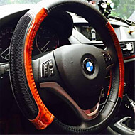 Imitation Taomu leather direction of the steering wheel anti - skid massage white inner ring