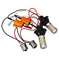 Jiawen 2pcs 5730 20LED Car Dual-Color Switchback LED KIT Turn Signal DRL Bulbs