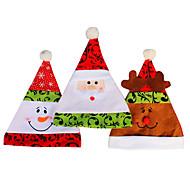 3pcs / lot natal tampões dos chapéus de pelúcia macia boneco filhos adultos chapéu de Papai Noel do Natal tampa veados alta qualidade