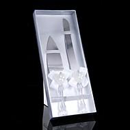 Ανοξείδωτο Ατσάλι Σετ Σερβιρίσματος Θέμα Κήπος Κλασσικό Θέμα Θέμα Παραμυθιού Vintage Theme Στρας Λευκός φιόγκος 2 Κουτί Δώρου