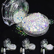 one bottles Nail Art Dekorace drahokamu Pearls make-up Kosmetické Nail Art design