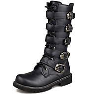 Men's Boots Spring /Fall/Winter Cowboy / Western Boots / Combat Boots Synthetic Party & Evening/Casual Black