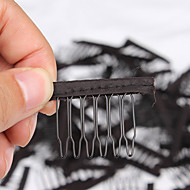 20 pcs/Lot Wig Accessories Hair Wig Combs and Clips For Wig Cap Black Color Lace Wig Making Combs and Clips For Wig Cap
