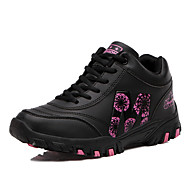 Women's Athletic Shoes Spring Fall Winter Platform Comfort Leatherette Outdoor Casual Athletic Platform Creepers Lace-up Pink Purple