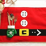 1 stk julebordet matter&hansker kniv gaffel poser jule hjem leverer stasjonære dekorasjoner beste gave til jul