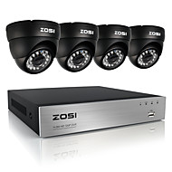 ZOSI®8CH 720P DVR 4PCS 1.0MP IR Dome Camera Home Security System Surveillance Kits