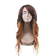 Ny stil lysebrunt hår blonder foran naturlig bølget syntetisk blonde parykker