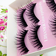 Eyelashes lash Full Strip Lashes Eyes Thick Volumized Half Handmade Fiber Black Band 0.10mm