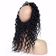 360 Lace Frontal Closure 7A Deep Wave Brazilian Hair 360 Lace Virgin Hair Lace Frontals With Adjustable Straps Baby Hair 360 Lace Band Frontals