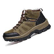 Atletik Ayakkabılar-Açık Hava-Rahat-PU-Düz Topuk-Yeşil Gri Haki-Erkek