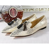 Women's Flats Spring / Summer / Fall / Winter Comfort Pigskin Casual Low Heel Tassel Silver / Gold Others