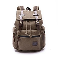 Casual Outdoor Backpack Unisex Canvas Blue Green Brown Black