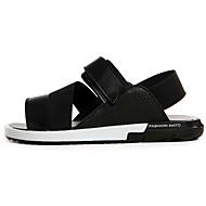 Unisex Sandals Summer Comfort PU Casual Flat Heel Magic Tape Black White Orange Others