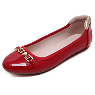 Women's Flats Spring / Summer / Fall / Winter Comfort  Casual Flat Heel Chain Black / Red / Almond Walking