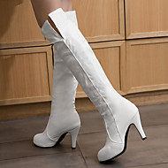 Women's Boots Fall / Winter Shoes & Matching BagsParty & Evening / Casual Stiletto Heel Lace-up Black / White