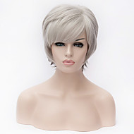 Europe and the United States latest Fashion silver white short Ombre straight  fiber wig