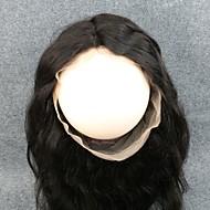360 Frontal Krop Bølge Menneskehår stenging Medium brun Sveitsisk blonde 90G gram Gjennomsnitt Cap Size